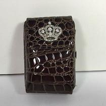 Faux Croc Cross Rhinestone Cell Phone Camera Wristlet Wallet Photo
