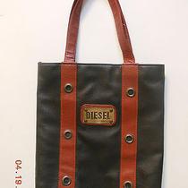 Faux Diesel Faux Leather Tote Bags Black Purse Shopping Bag-Euc Photo
