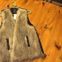 Faux Fur Vest With Knited Back Size Medium by Grace Elements From Macys Photo