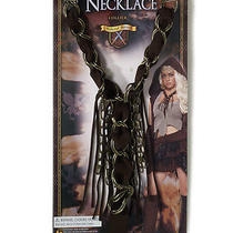Faux Leather Chain Medieval Fantasy Warrior Barbarian Viking Necklace Photo