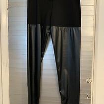 Faux Leather Trousers / Leggings by Versace Size M New Black Photo