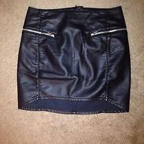 Faux Leather Zipper Skirt. Similar to Zara Skirt Photo