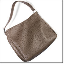 Faux-Ostrich Embossed Hobo Photo