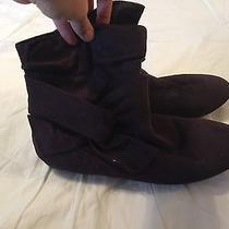 Faux Suede Booties Photo