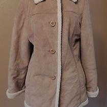 Faux Suede Coat With Faux Lambs Wool Lining  Photo