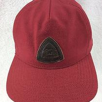 Fayettechill Parker Leather Patch Brick Colored 5-Panel Snapback Hat - Excellent Photo