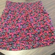 Fcuk French Connection Black Floral Flower Mini Skirt 10 Pockets Large Cotton Photo