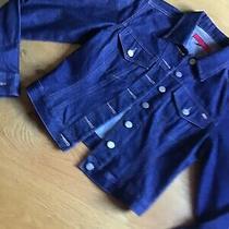 Fcuk Jeans Ladies Indigo Denim Jacket Size Small - Great Photo