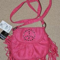 Fe Fashion Express Pink Fringe Studded Peace Sign Purse Handbag  Nordstrom New Photo