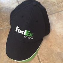 Federal Express Ground Baseball Cap/hat W/ Adjustable Velcro Navy W/ Green Trim Photo