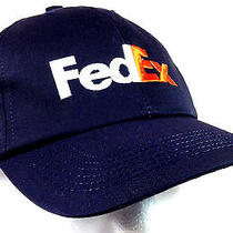 Fedex Cap Federal Express Staff Employee Uniform Hat Snap Back One Size Fits All Photo