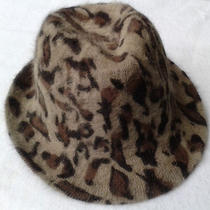 Fedora Hat Furry Warm Leopard Print Tan Imitation Fur One Size Cute Hat Photo