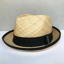 Fedora Straw Hat  Med/large  Black Band Early 2000s Era Photo