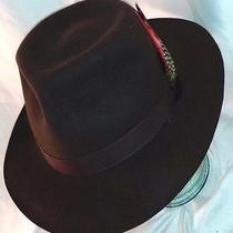 Fedora Trilby Foldaway by Christys' Women Men Brown Fur Felt Style Hat Sz Large Photo