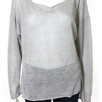 Feel the Piece Taupe Linen Long Sleeve Scoop Neck Knit Top Sz O/s Photo