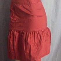 Fei Anthropologie Size 6 Pink Tiered Ruffle Tie Waist Prairie Skirt Photo