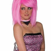 Feline Fantasy Cat Ear Costume Wig Adult Pink Photo