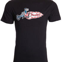 Fender Brand Embroidered Usa Chopper Girl Biker Rock Music Lucky T-Shirt Men Xxl Photo