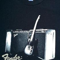 Fender Brand T Shirt L Guitar Music Rock and Roll Blues Equipment Live Star Photo