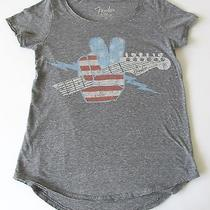 Fender Exclusively Designed by Lucky Brand Women's Shirt Us Flag Guitar Vgc Photo