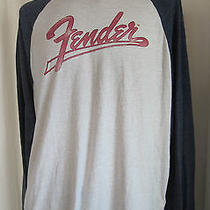 Fender Lucky Brand Men's Graphic Long Sleeve T-Shirt Xxl 2xlarge Photo
