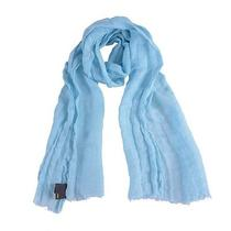 Fendi 100% Linen Sky Blue Women's Scarf Photo
