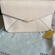 Fendi 2jours Leather Blush Pink Clutch Wristlet Rare Photo