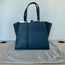 Fendi  3jours Tote Bag Blue New From Italy Photo