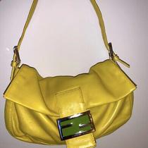 Fendi Authentic Mama Bucket 26424 Yellow Napa Leather. Photo