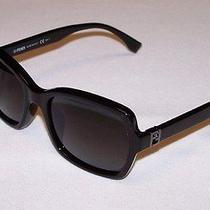 Fendi Authentic Sunglasses Ff0007/s Ff 0007/s D28/hd Shiny Black Grey Gradient Photo