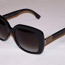 Fendi Authentic Sunglasses Ff0014/s Ff 0014/s 7sy/9o Black Dark Grey Gradient Photo