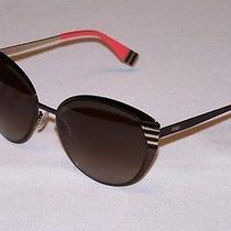 Fendi Authentic Sunglasses Ff0017/s Ff 0017/s 7ro/ha Dark Brown Gradient New Photo