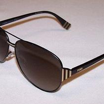 Fendi Authentic Sunglasses Ff0018/s Ff 0018/s 7sd/ha Black Gold Brown New Photo