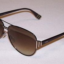 Fendi Authentic Sunglasses Ff0018/s Ff 0018/s 7se/cc Dark Brown Gradient New Photo