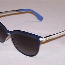 Fendi Authentic Sunglasses Ff0022/s Ff 0022/s 7wd/hd Blue Grey New Photo