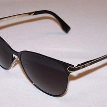 Fendi Authentic Sunglasses Ff0022/s Ff 0022/s 7wh/9o Black Gold Dark Grey New Photo