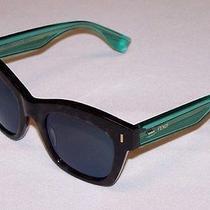 Fendi Authentic Sunglasses Ff0025/s Ff 0025/s 7of/3u Grey Green Mirror New Photo