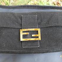 Fendi Baguette Black Velvet Bag Handbag Purse Photo