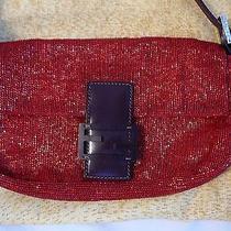 Fendi Baguette Red Beaded Bag Never Worn  Photo