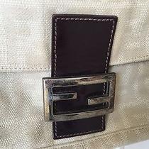 Fendi Beige Baguette Handbag Photo