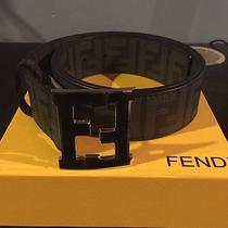 Fendi Belt - Black - Size 110 - Fits 34