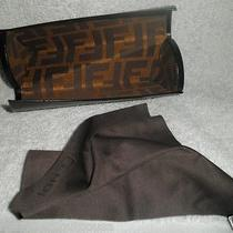 Fendi Black Eyeglass Case With Cloth Photo