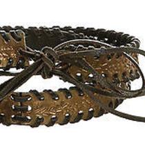 Fendi Black Leather and Acrylic Braided Belt Photo