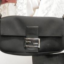 Fendi Black Microfiber Pochette Photo