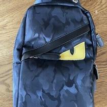 Fendi Black One-Shoulder Backpack Photo