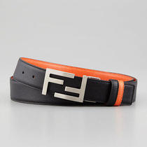 Fendi Black Reversible Logo Leather Belt Mens Sz 38 Photo