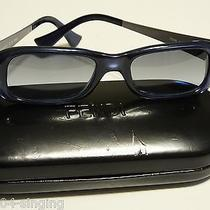 Fendi  Blue Acrylic Frames Pewter Side Perfect Conditon Photo