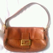 Fendi Brick Brown Small Shoulder Handbag Vintage Trendy Photo