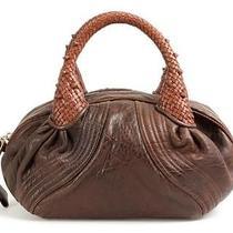 Fendi Brown & Cognac Leather Mini Spy Handbag Photo