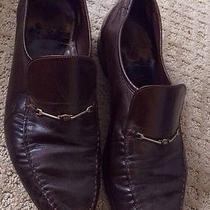 Fendi Brown Vintage Loafers Dress Men Shoes Guc 8.5 E Photo